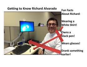 Getting to Know Richard Alvarado