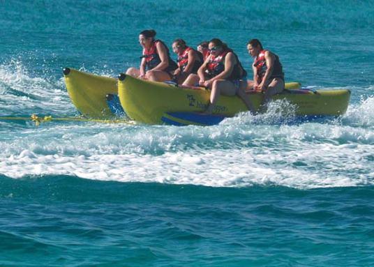 Fun banana boat
