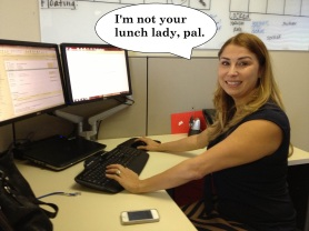 Lynn Shaw is Not the Lunch Lady